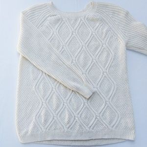XXL White and Gold Knit Sweater